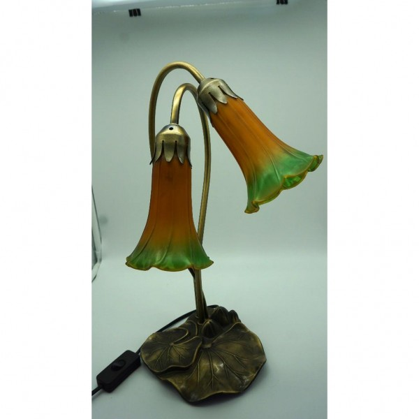 Franz vintage stehlampe orange tulip for Tischlampen vintage